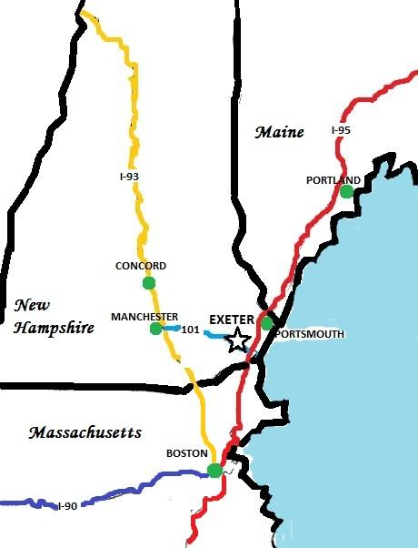 Why Exeter? | Town of Exeter New Hampshire Official Website on interstate 95 map, nh highway map, route 2 map,
